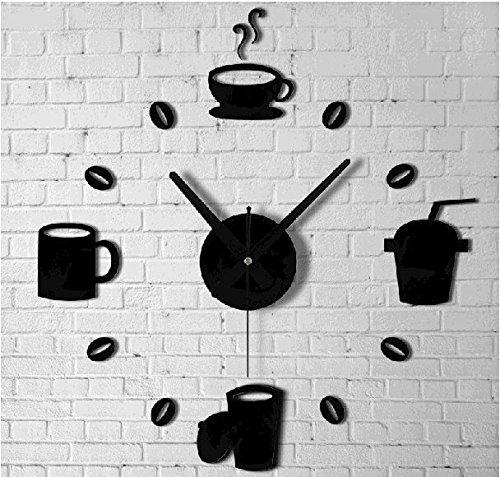 Aufkleber Schwarz Kche Spiegel Uhr Wandtattoo Truhe Zeit Cup Dekoration Modernes Design Fr Wohnzimmer Schlafzimmer