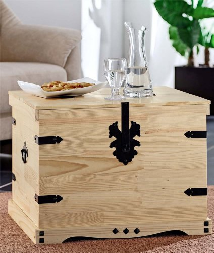 truhe als couchtisch. Black Bedroom Furniture Sets. Home Design Ideas