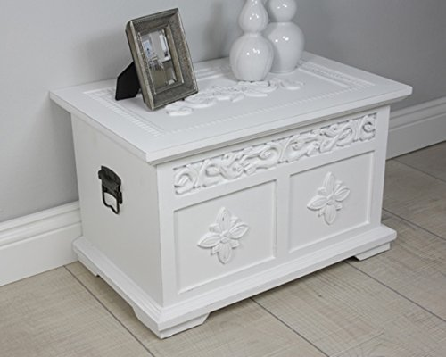besonderer holz truhentisch in wei. Black Bedroom Furniture Sets. Home Design Ideas