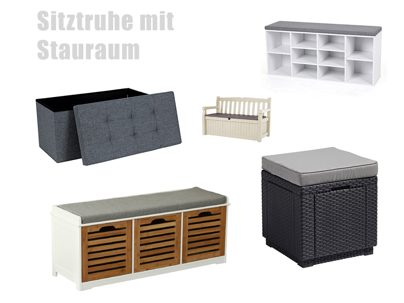 sitztruhe mit stauraum. Black Bedroom Furniture Sets. Home Design Ideas