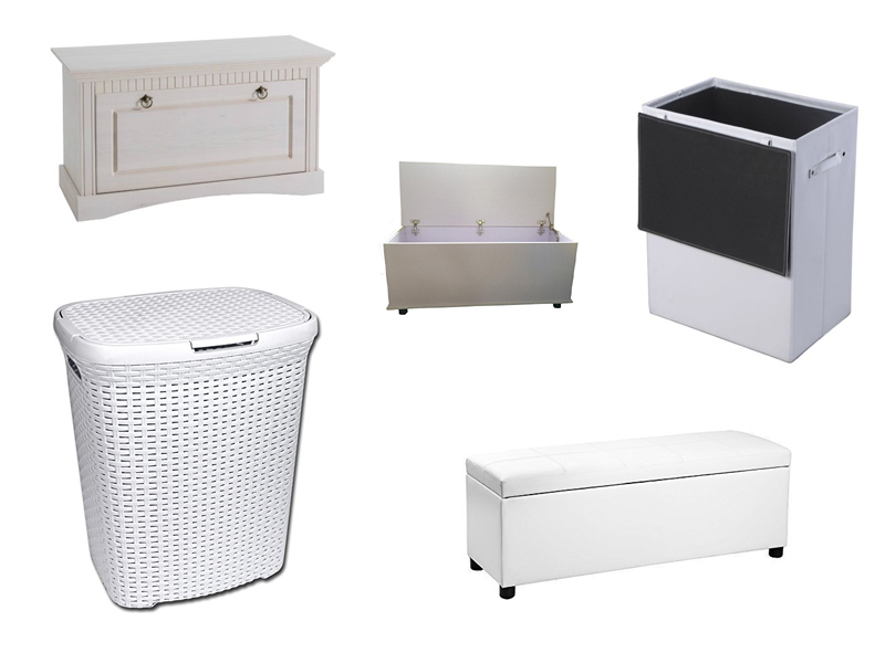 gro e truhe in wei. Black Bedroom Furniture Sets. Home Design Ideas